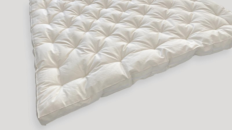 Luxury MicroCoils and Wool Mattress Topper